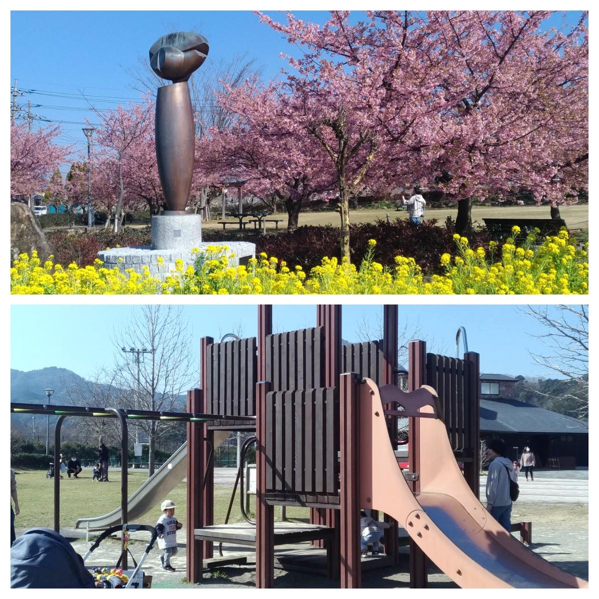 【滑り台マニアvol.9】伊豆の国市・桜満開!リバーサイドで遊リバー♪♪